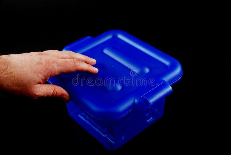 голубые коробки стоковое изображение rf