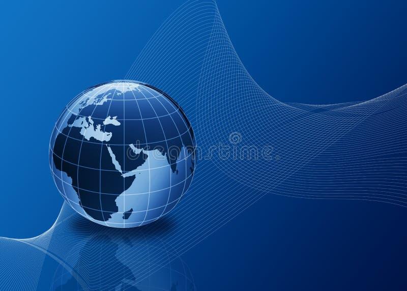 голубые линии глобуса 3d иллюстрация штока