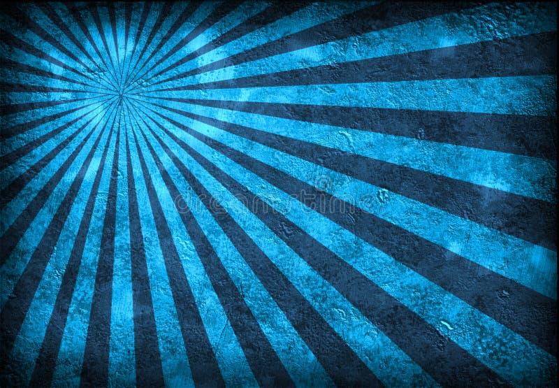 голубые лучи grunge иллюстрация вектора