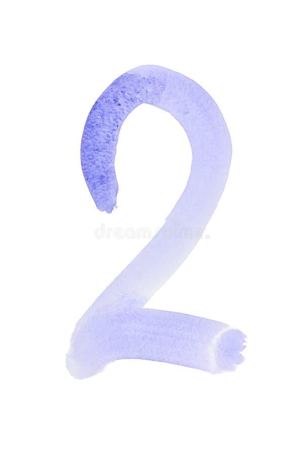 Голубые номера акварели бесплатная иллюстрация