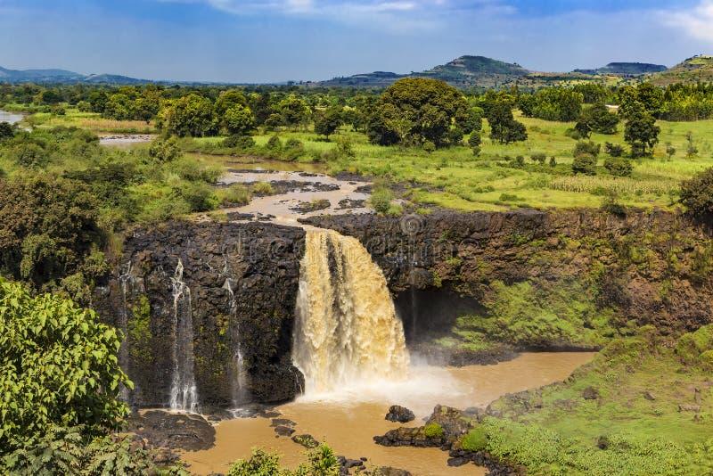 Голубые падения Нила, Эфиопия стоковая фотография rf