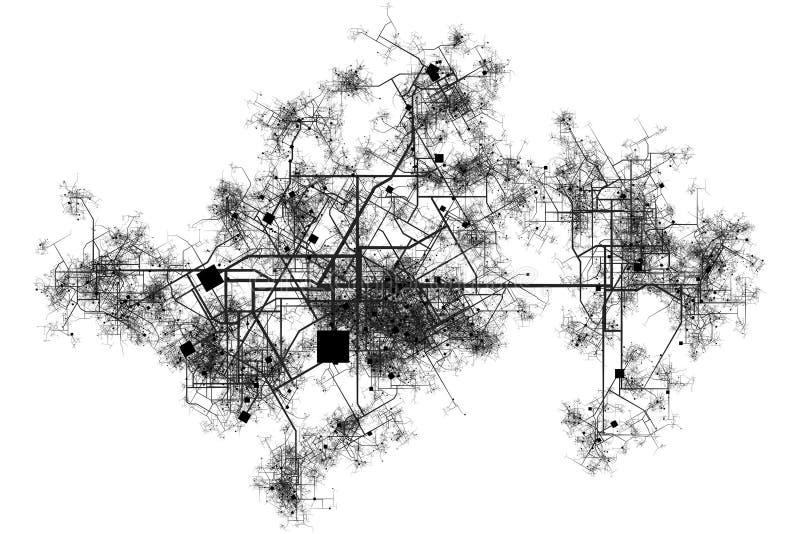 голубые печати города бесплатная иллюстрация