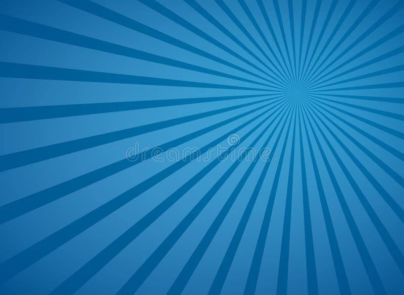 Голубые радиальные лучи неба и линии предпосылка лучей абстрактные вектора иллюстрация штока