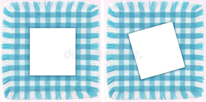 голубые рамки стоковые фотографии rf