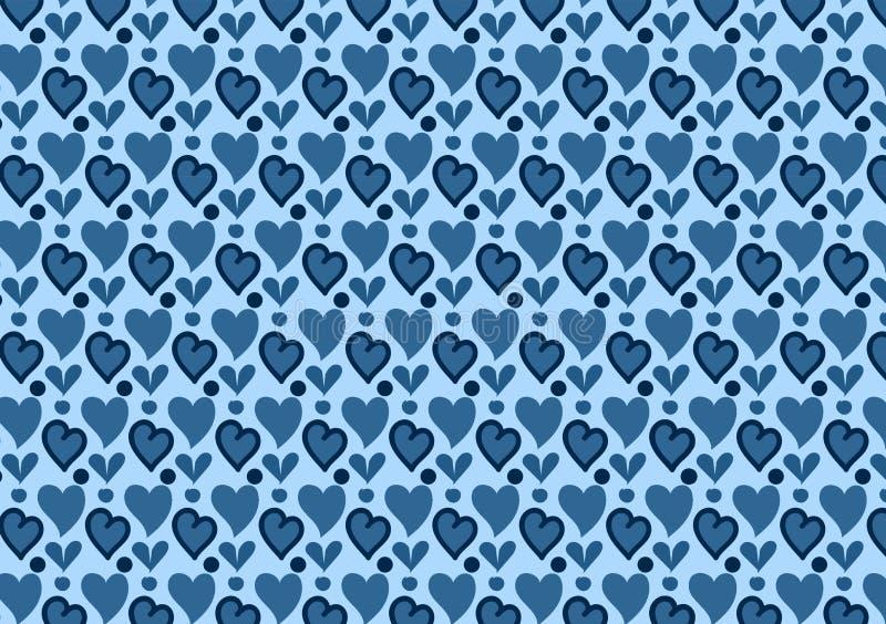 Голубые сердца и обои картины кругов иллюстрация вектора