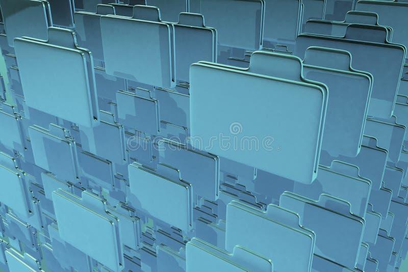 голубые скоросшиватели стоковая фотография rf