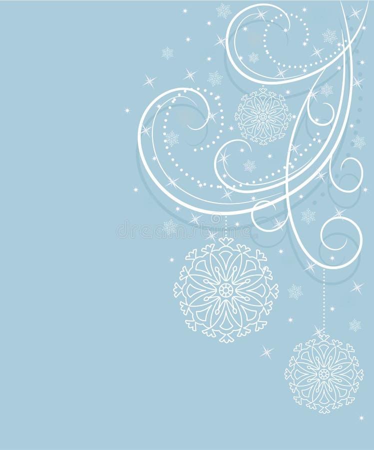голубые снежинки карточки иллюстрация вектора