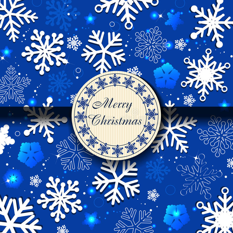 голубые снежинки рождества карточки бесплатная иллюстрация