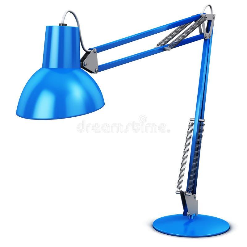 Голубые стол или настольная лампа бесплатная иллюстрация