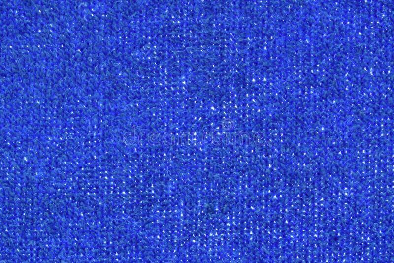 Голубые текстура и предпосылка ткани полотенца стоковое фото