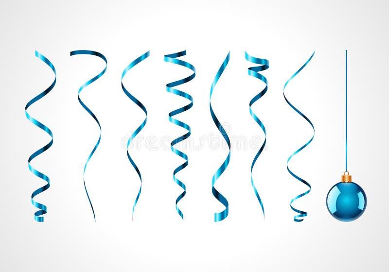 голубые тесемки орнамента иллюстрация штока