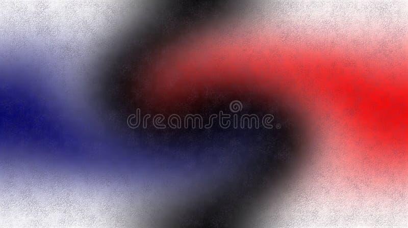 Голубые черные красные белые текстурированные запачканные затеняемые обои предпосылки яркая иллюстрация вектора цвета иллюстрация вектора