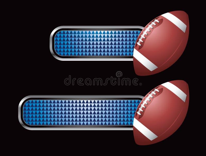 голубые checkered платы футбола бесплатная иллюстрация