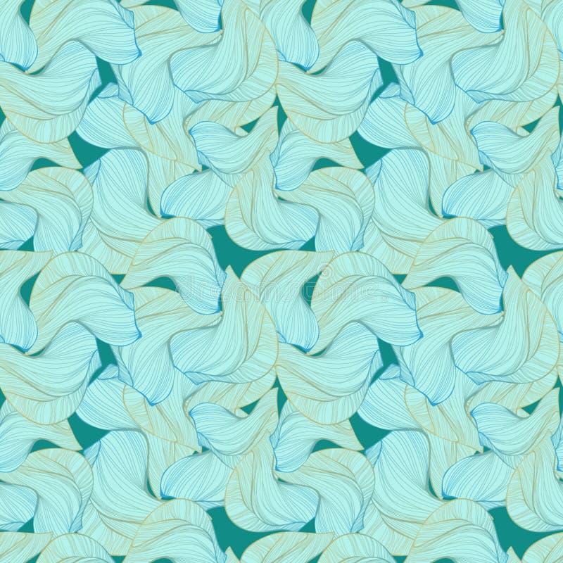 Голубые monochrome волны иллюстрация вектора