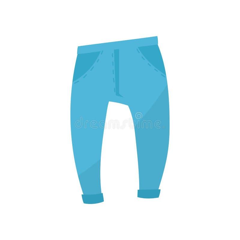 Голубые sweatpants, мальчики носят иллюстрацию вектора на белой предпосылке бесплатная иллюстрация