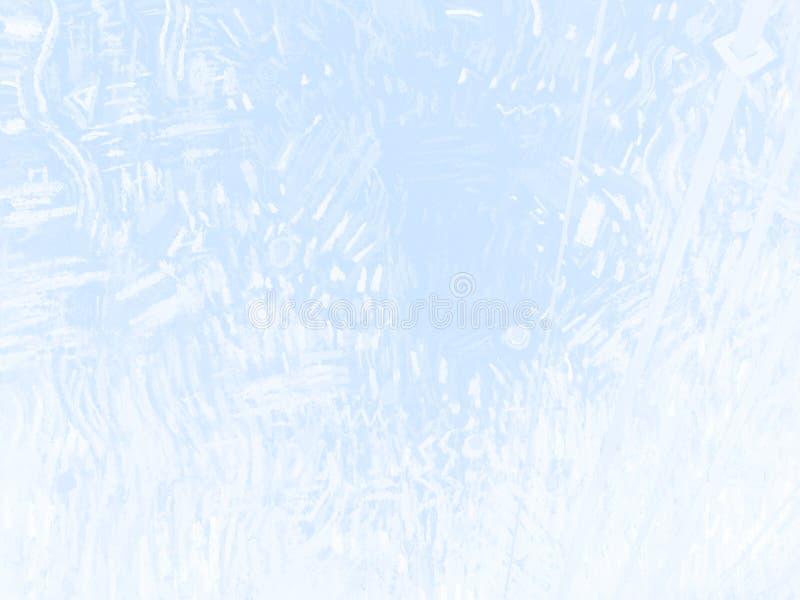 Голубым предпосылка текстурированная карандашем с текстурой белой бумаги бесплатная иллюстрация