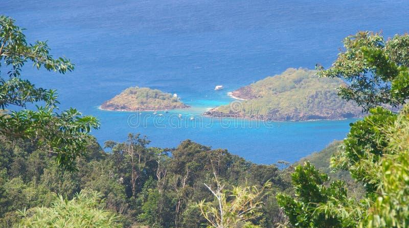 Голубь Ilet - тропический остров в Вест-Инди - Гваделупе стоковая фотография rf
