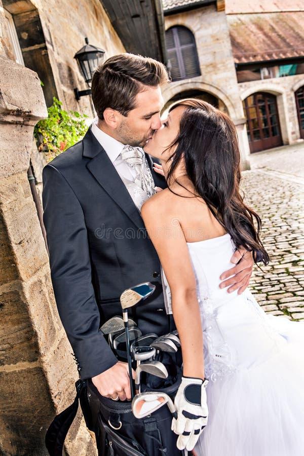 Гольф венчания стоковые изображения rf