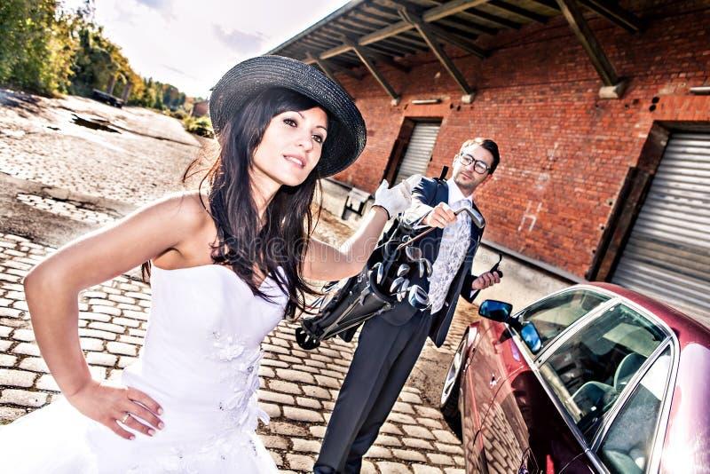Гольф венчания стоковое фото