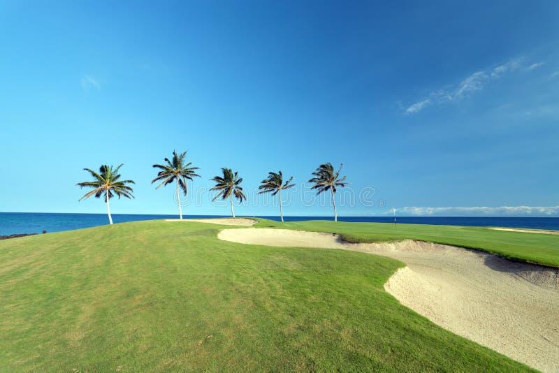 гольф Гавайские островы курса стоковые фотографии rf