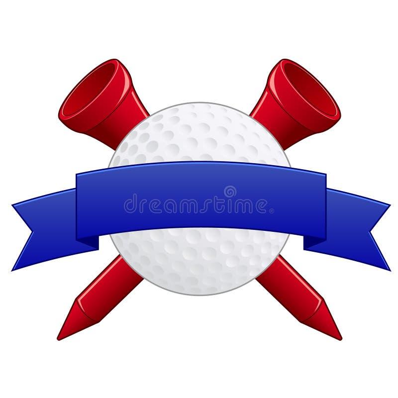 гольф значка иллюстрация штока