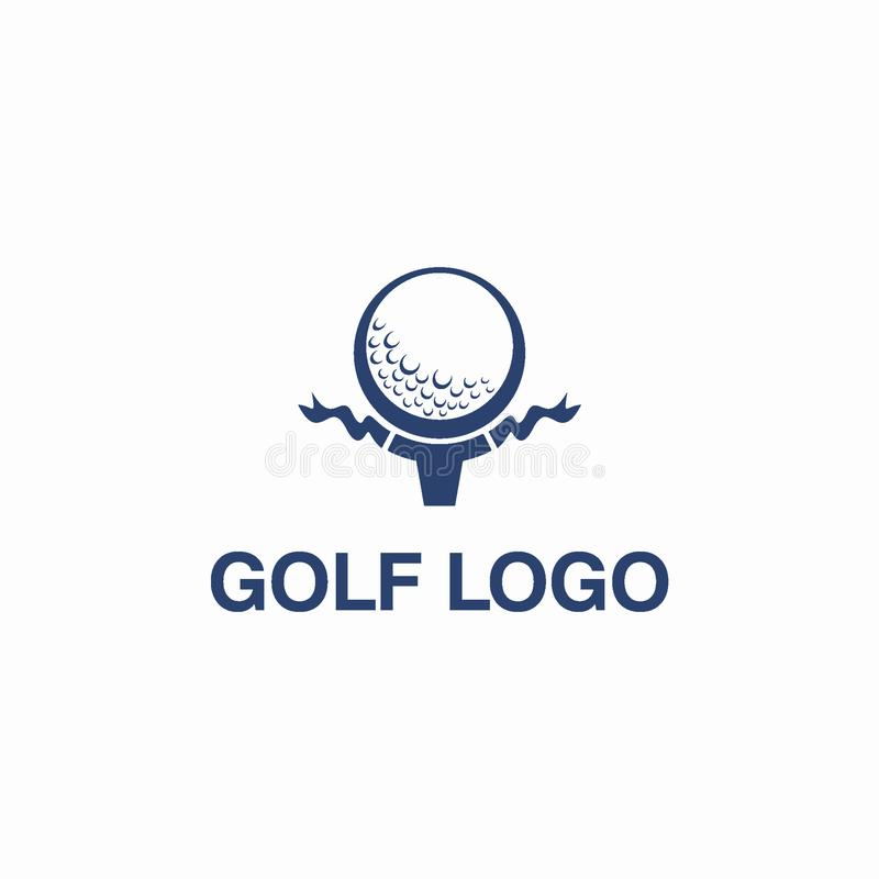 Гольф клуба или идея проекта логотипа спорта иллюстрация вектора