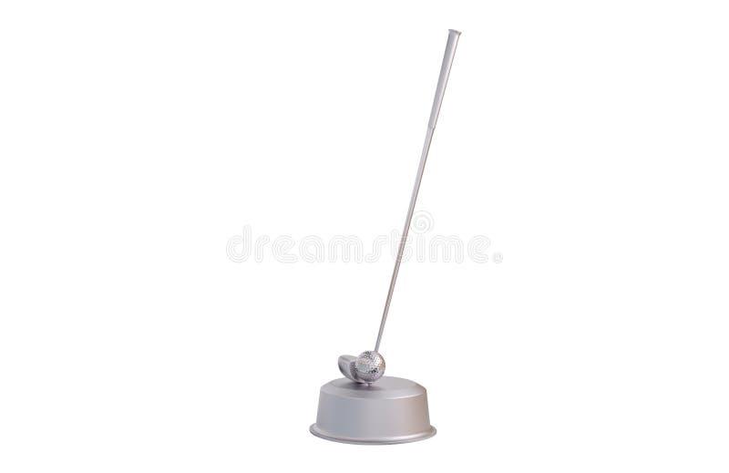 Гольф-клуб и трофей шарика серебряный бесплатная иллюстрация