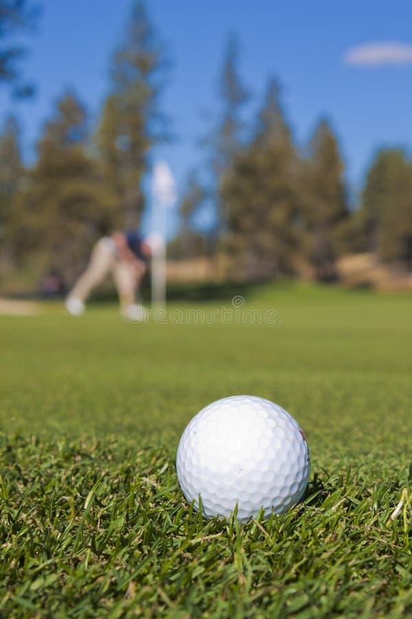 гольф крупного плана шарика стоковое изображение rf
