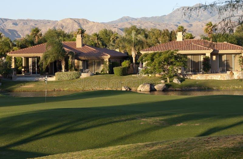 гольф курса самонаводит Палм Спринг стоковая фотография rf