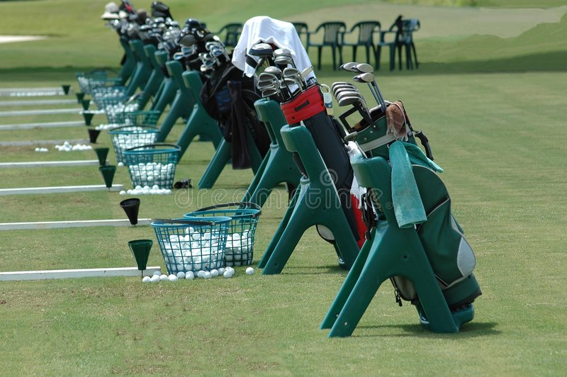 гольф мешков стоковые изображения rf