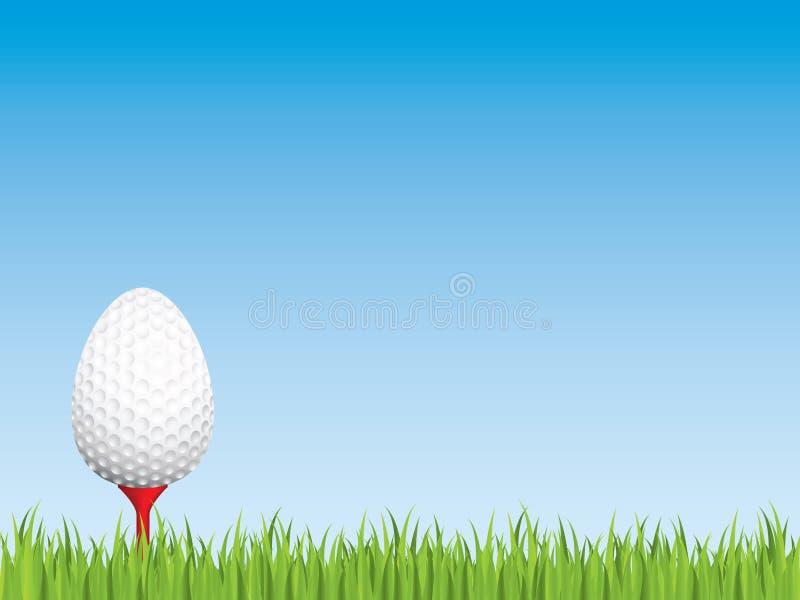 гольф пасхи иллюстрация вектора