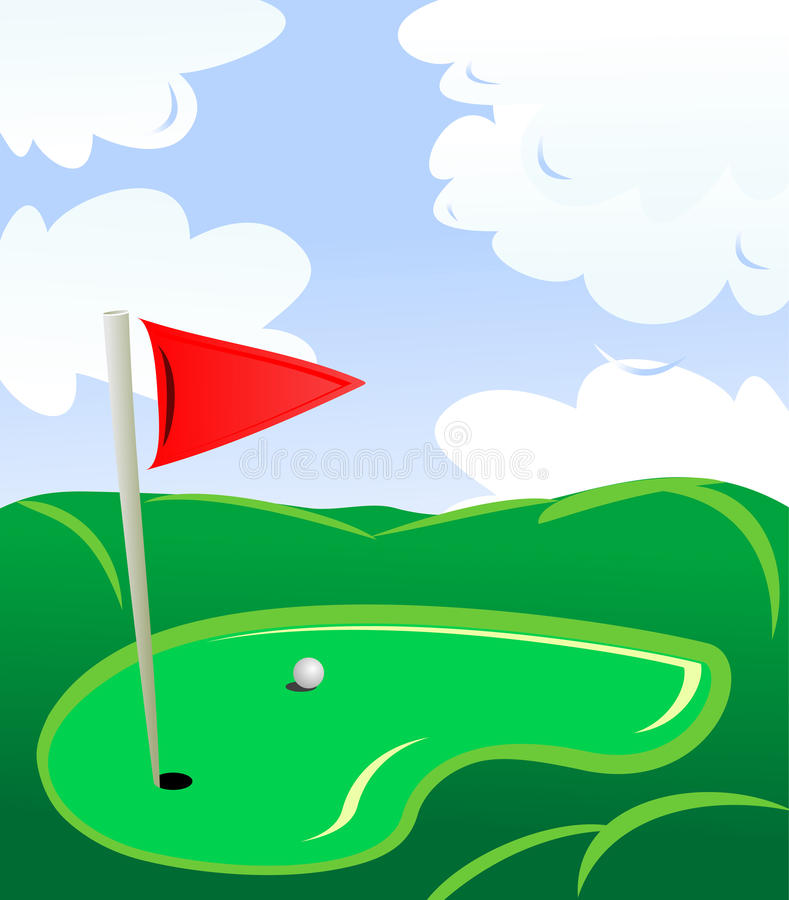гольф поля бесплатная иллюстрация