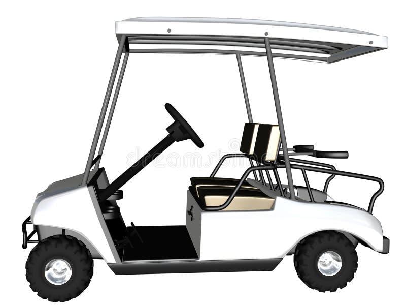 гольф тележки 3d представляет стоковое изображение