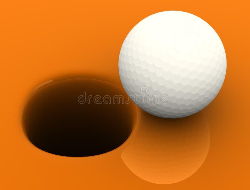 гольф шарика иллюстрация штока