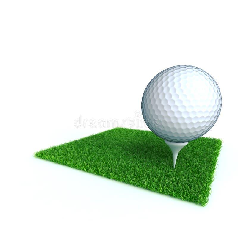 гольф шарика иллюстрация вектора