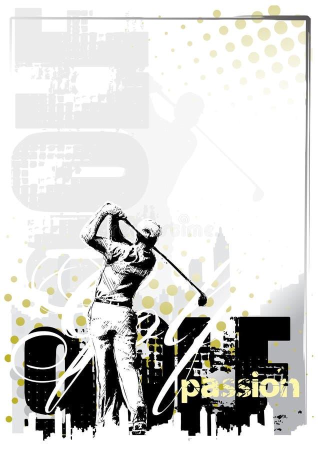 гольф 3 предпосылок иллюстрация вектора