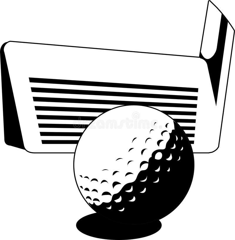 гольф иллюстрация вектора