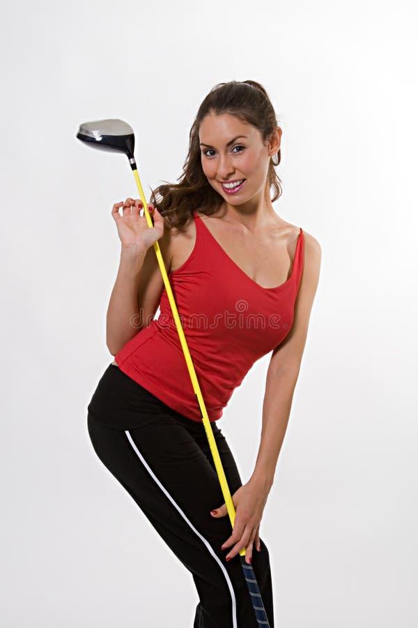 гольф cl брюнет довольно стоковые изображения
