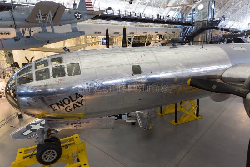 Гомосексуалист Боинга B-29 Superfortress Enola в смитсоновск NASM Энн стоковое фото