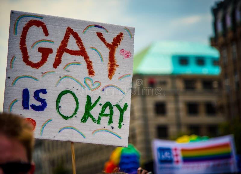Гомосексуалист одобрен стоковое фото