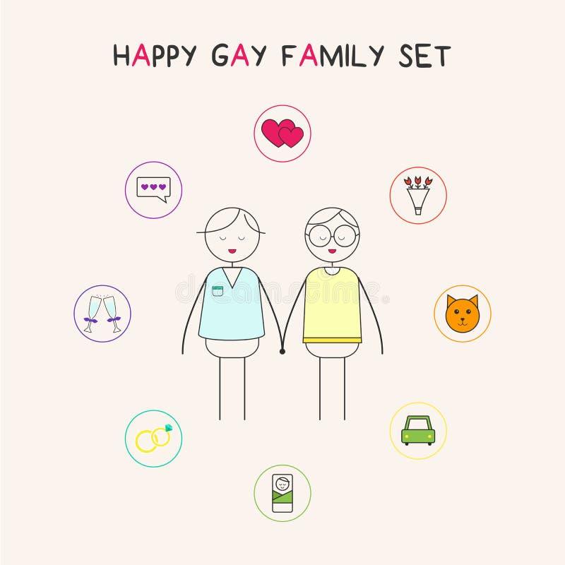 гомосексуалист семьи счастливый стоковые изображения