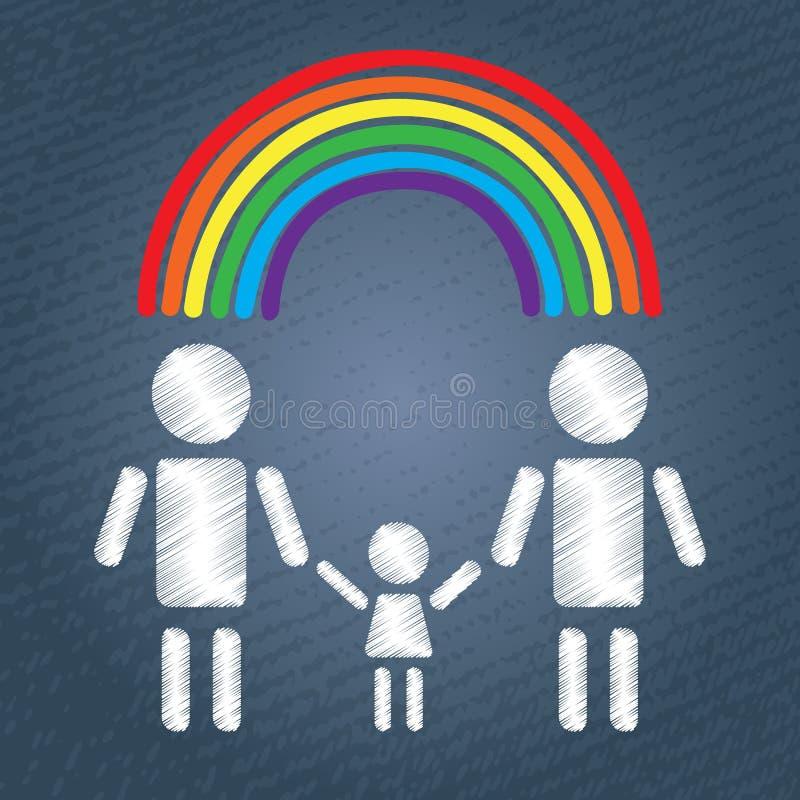 гомосексуалист семьи счастливый бесплатная иллюстрация