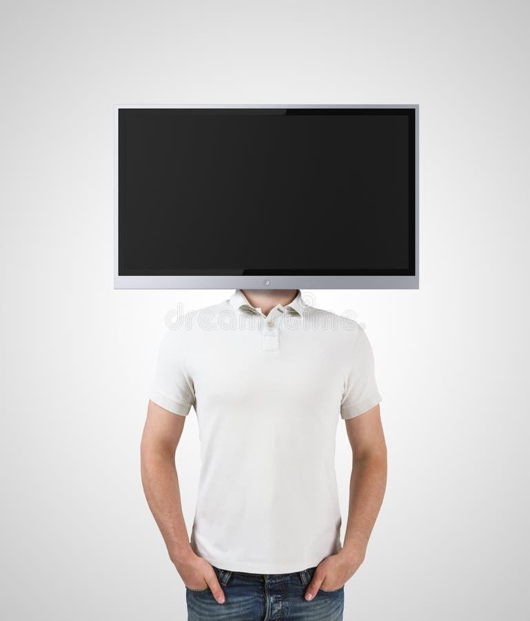 Гомосексуалист с ТВ стоковое фото
