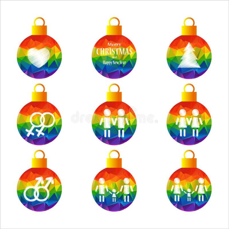 Гомосексуалист christmas-07 иллюстрация вектора