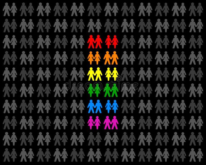 Гомосексуальные пары иллюстрация вектора