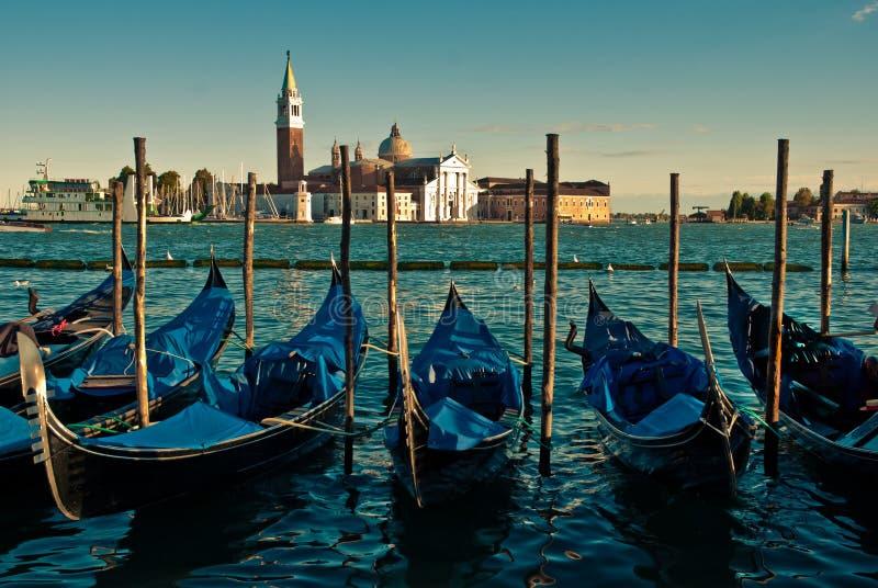 Гондолы в Венеция стоковое изображение rf