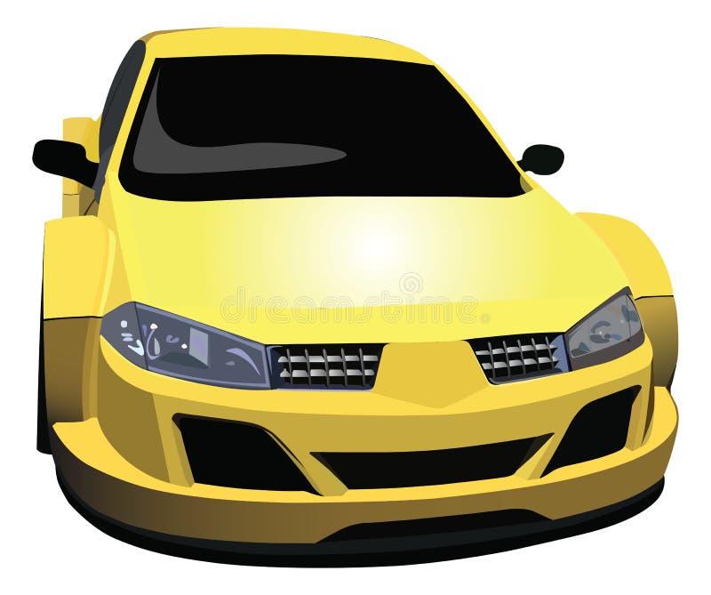 гонка автомобиля иллюстрация штока
