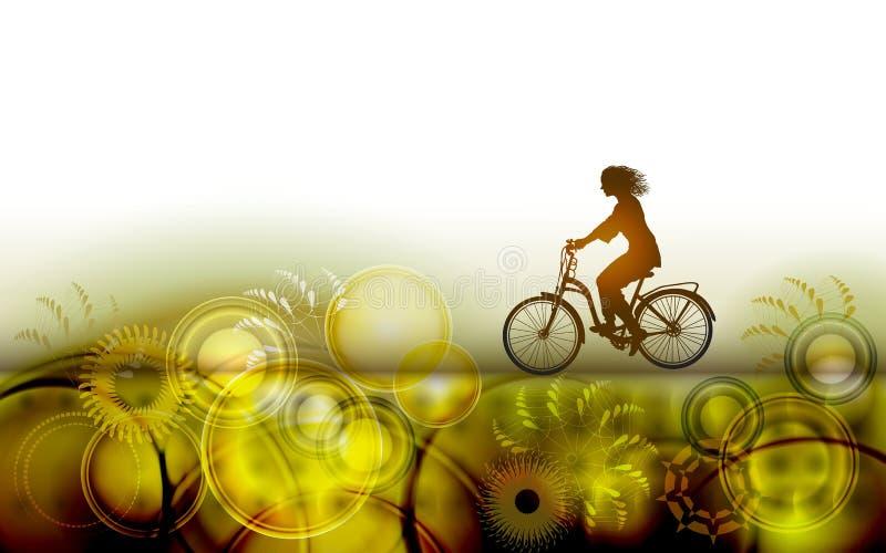 Гонка велосипеда Спорт велосипедиста Тренировка всадника велосипеда для конкуренции на задействуя дороге Плакат, знамя, шаблон бр иллюстрация вектора