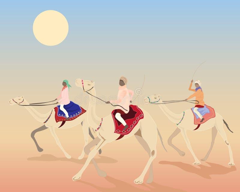 гонка верблюда бесплатная иллюстрация