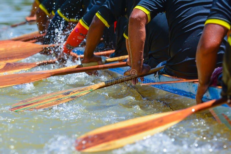 Гонка команды rowing стоковая фотография